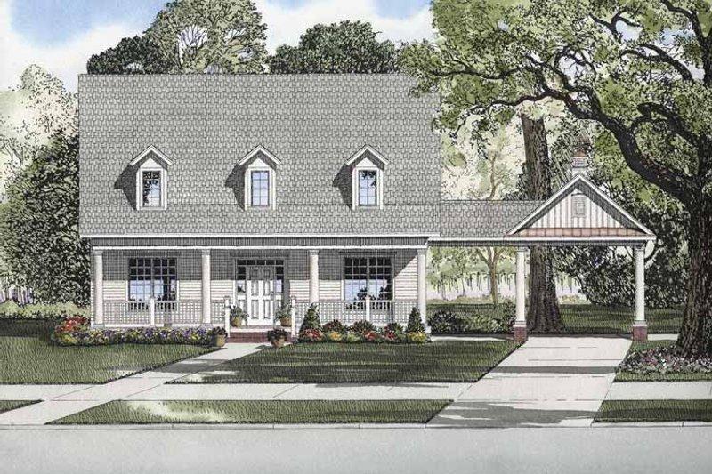 Colonial Exterior - Front Elevation Plan #17-2873 - Houseplans.com