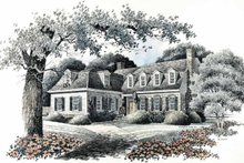 Colonial Exterior - Front Elevation Plan #429-93