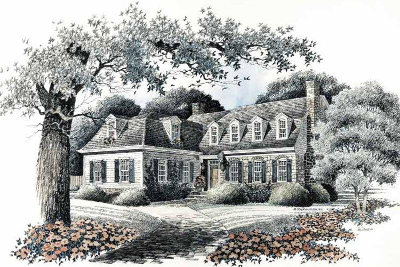 Colonial Exterior - Front Elevation Plan #429-93 - Houseplans.com