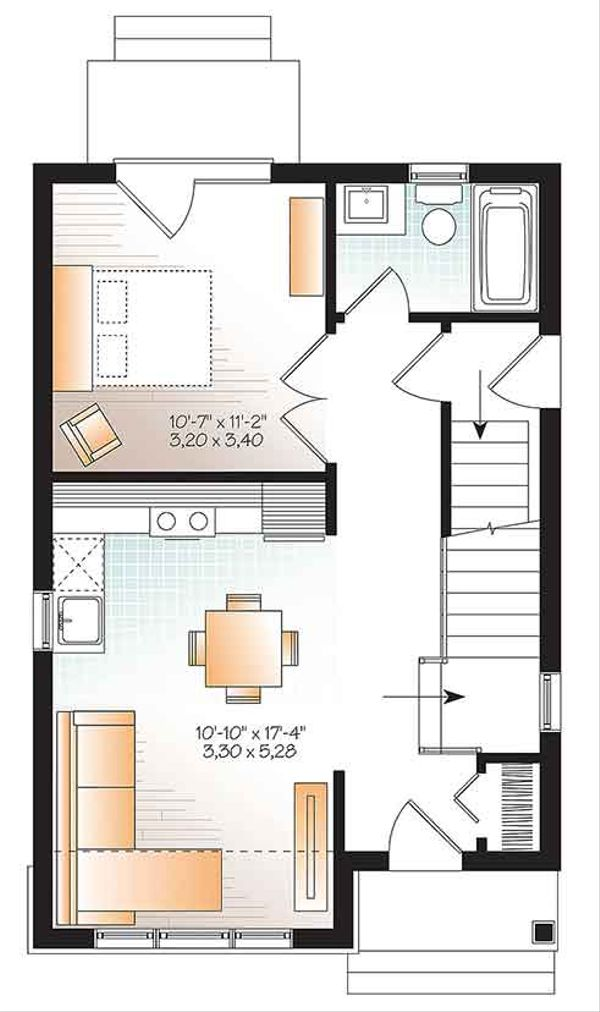 Craftsman Floor Plan - Main Floor Plan Plan #23-2604