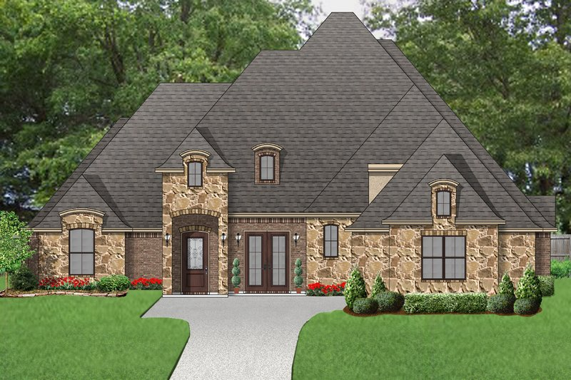 European Exterior - Front Elevation Plan #84-602