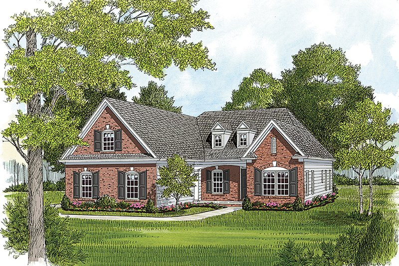 House Plan Design - Colonial Exterior - Front Elevation Plan #453-629