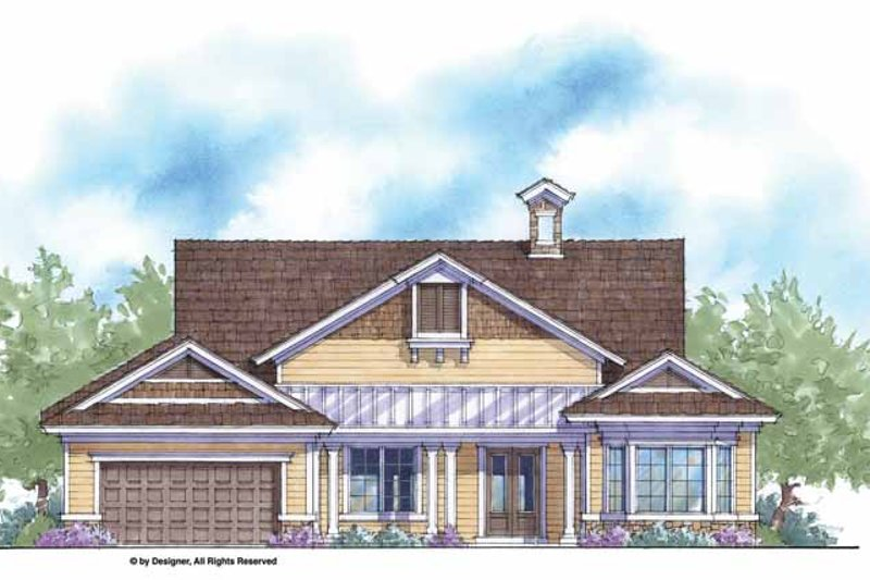 Country Exterior - Front Elevation Plan #938-49
