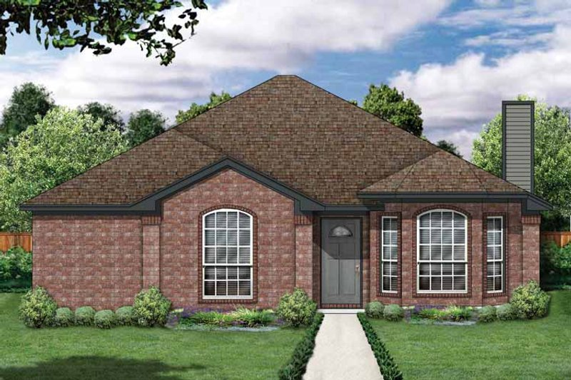 House Plan Design - Traditional Exterior - Front Elevation Plan #84-676