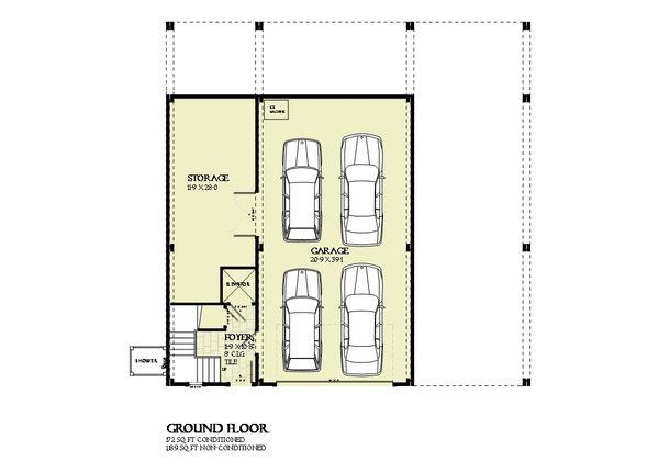 Beach Floor Plan - Lower Floor Plan Plan #901-125