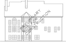 Colonial Exterior - Rear Elevation Plan #927-174