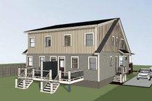 Craftsman Exterior - Rear Elevation Plan #79-249