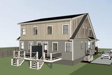 Dream House Plan - Craftsman Exterior - Rear Elevation Plan #79-249