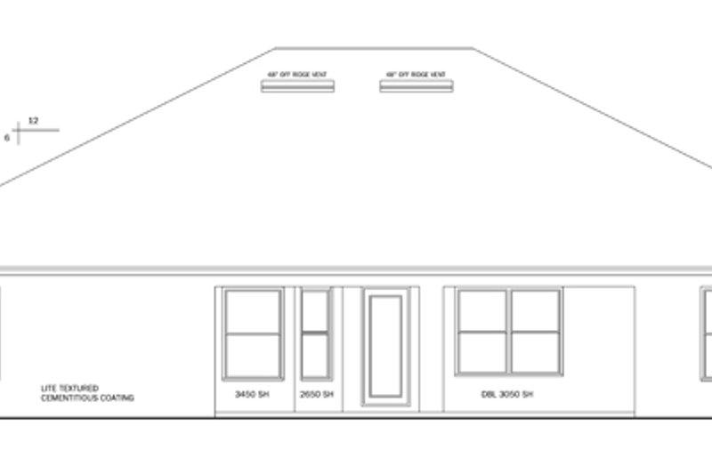 Craftsman Exterior - Rear Elevation Plan #1058-29 - Houseplans.com