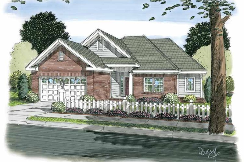 House Plan Design - Traditional Exterior - Front Elevation Plan #513-2103