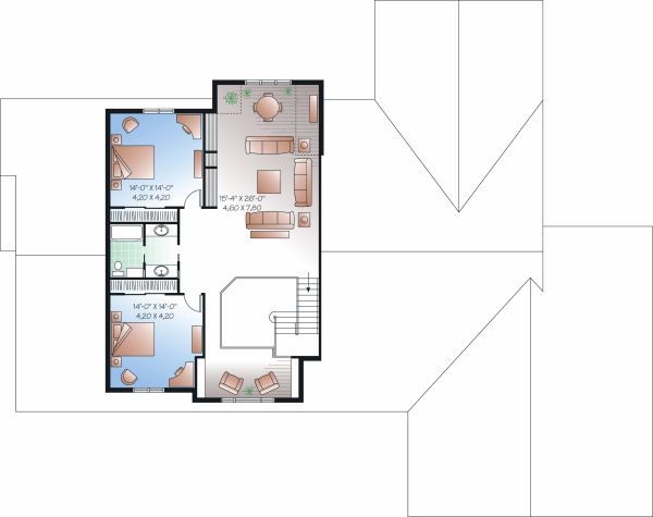 Traditional Floor Plan - Upper Floor Plan Plan #23-827