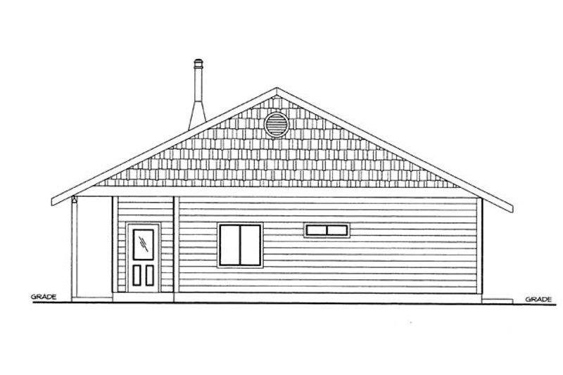 Cabin Exterior - Other Elevation Plan #117-857 - Houseplans.com
