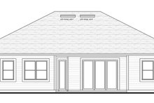 Colonial Exterior - Rear Elevation Plan #1058-122