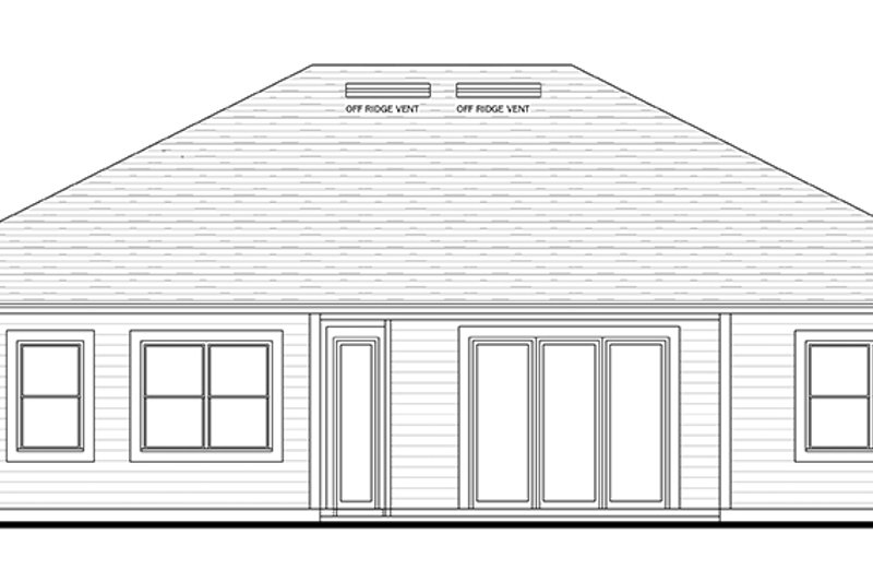 Colonial Exterior - Rear Elevation Plan #1058-122 - Houseplans.com
