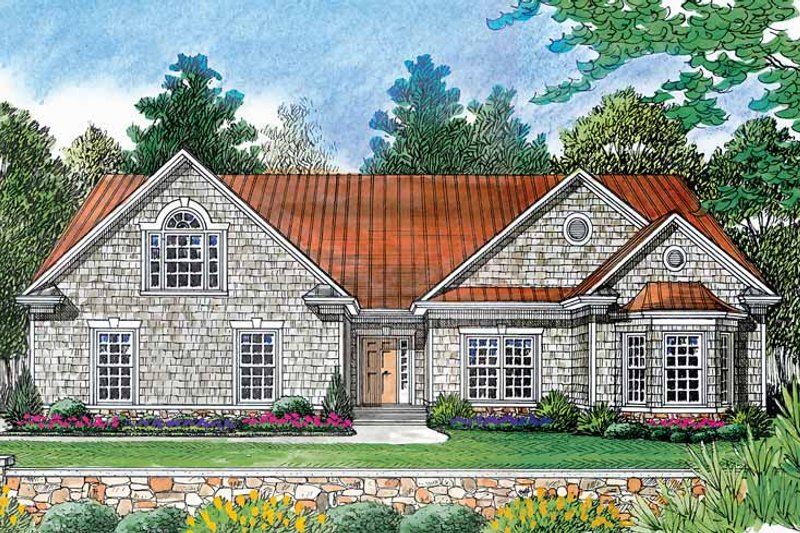 Ranch Exterior - Front Elevation Plan #453-386
