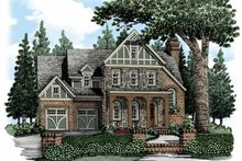 European Exterior - Front Elevation Plan #927-484