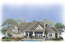 House Plan Design - Craftsman Exterior - Rear Elevation Plan #929-803
