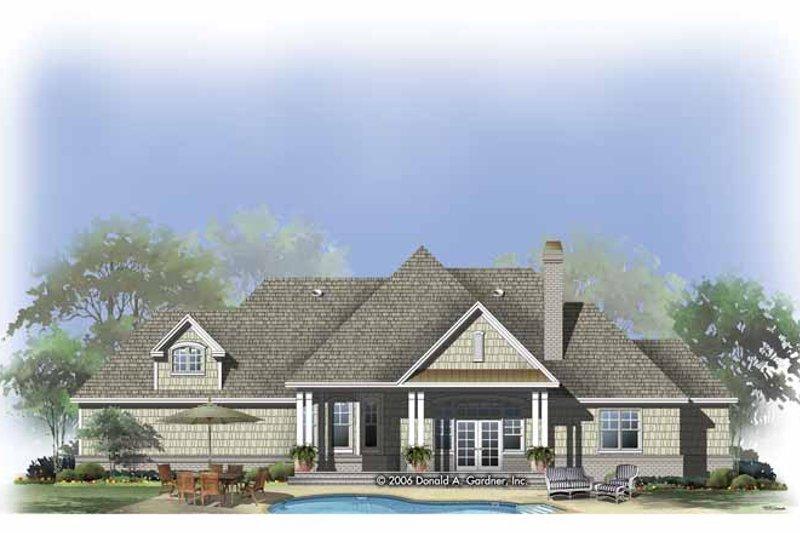 Craftsman Exterior - Rear Elevation Plan #929-803 - Houseplans.com