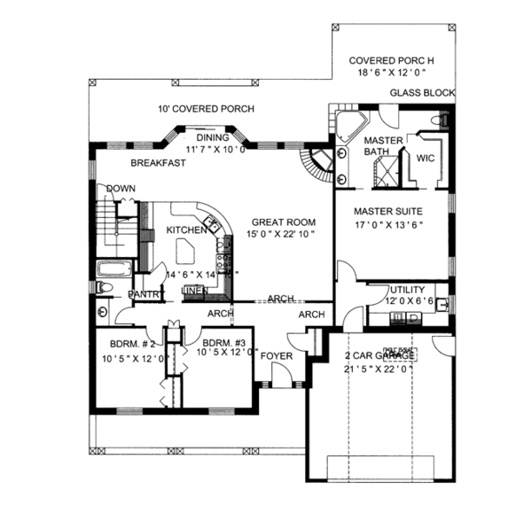 Traditional Floor Plan - Main Floor Plan Plan #117-834