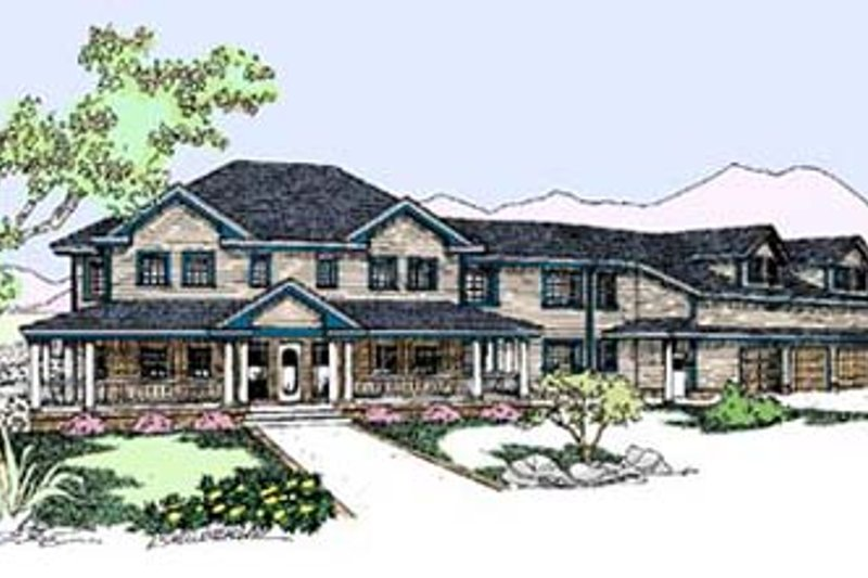 Dream House Plan - Country Exterior - Front Elevation Plan #60-592