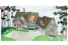 Craftsman Exterior - Front Elevation Plan #928-54