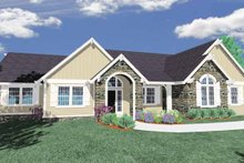 Home Plan - Traditional Exterior - Front Elevation Plan #509-382