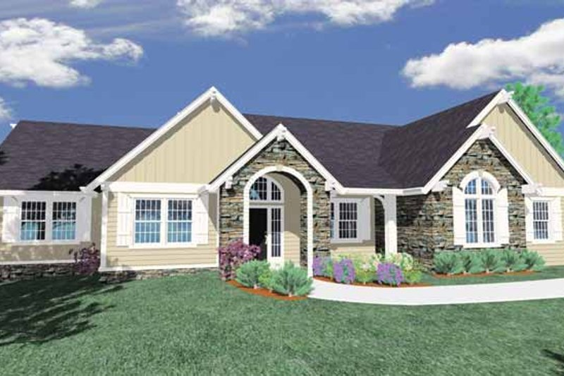Traditional Exterior - Front Elevation Plan #509-382 - Houseplans.com