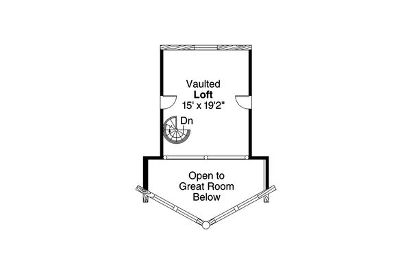 Architectural House Design - Log Floor Plan - Upper Floor Plan #124-951