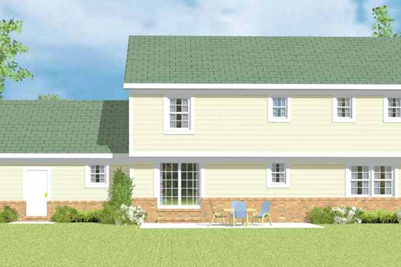 Country Exterior - Rear Elevation Plan #72-1103 - Houseplans.com