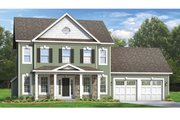 Colonial Style House Plan - 4 Beds 2.5 Baths 2104 Sq/Ft Plan #1010-50 Exterior - Front Elevation