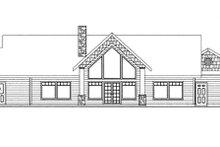 Contemporary Exterior - Rear Elevation Plan #117-849