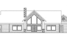 House Plan Design - Contemporary Exterior - Rear Elevation Plan #117-849