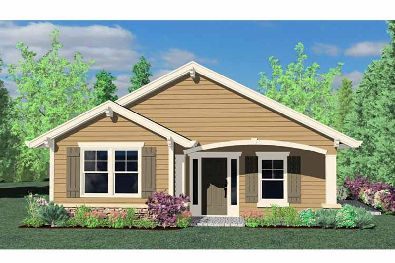 Traditional Exterior - Front Elevation Plan #509-118 - Houseplans.com