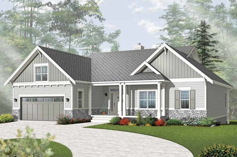 Traditional Exterior - Front Elevation Plan #23-2534 - Houseplans.com