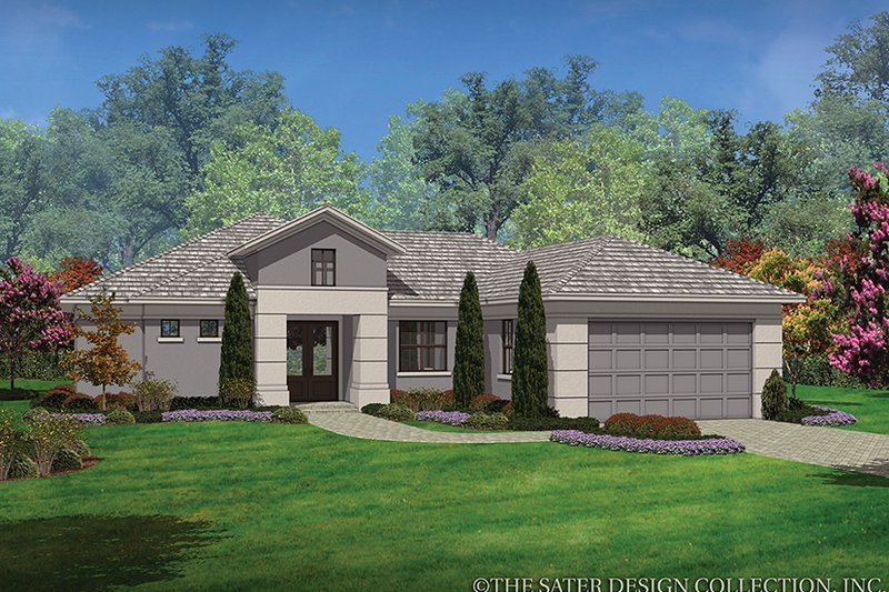 Contemporary Style House Plan - 3 Beds 2 Baths 1808 Sq/Ft Plan #930-450 Exterior - Front Elevation