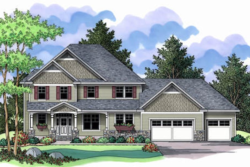Traditional Exterior - Front Elevation Plan #51-357