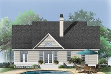 Dream House Plan - Country Exterior - Rear Elevation Plan #929-625