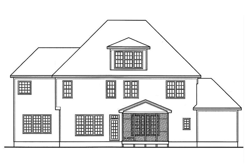 Country Exterior - Rear Elevation Plan #977-13 - Houseplans.com