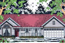 Country Exterior - Front Elevation Plan #42-664