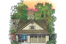 Adobe / Southwestern Exterior - Front Elevation Plan #1016-111