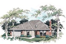 Dream House Plan - Ranch Exterior - Front Elevation Plan #48-592