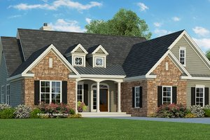Traditional Exterior - Front Elevation Plan #929-979