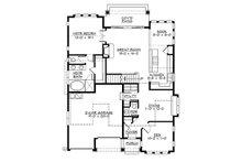 Craftsman Floor Plan - Main Floor Plan Plan #132-209