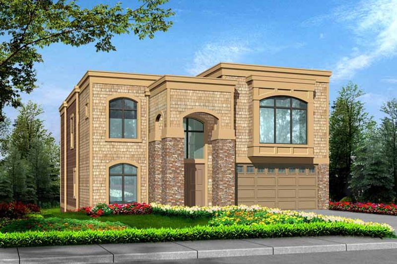 Home Plan - Contemporary Exterior - Front Elevation Plan #132-429