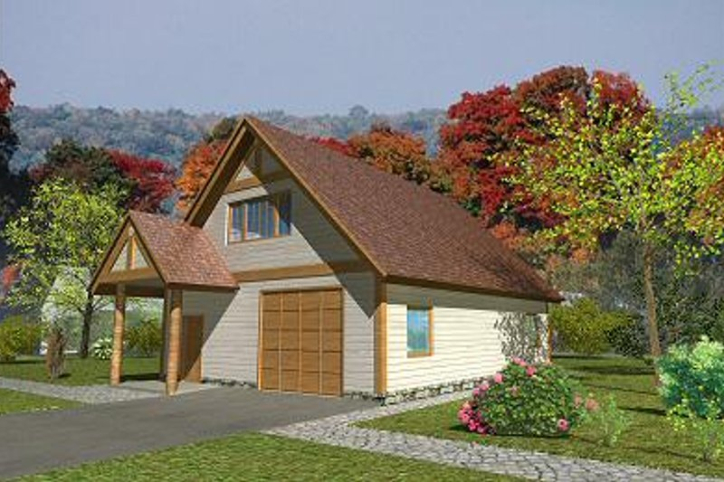 Traditional Exterior - Front Elevation Plan #117-551 - Houseplans.com