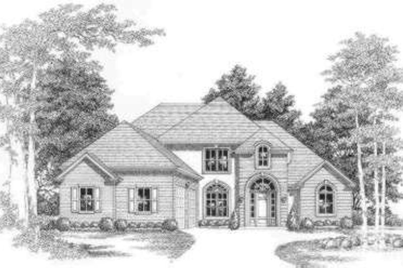 European Exterior - Front Elevation Plan #325-271