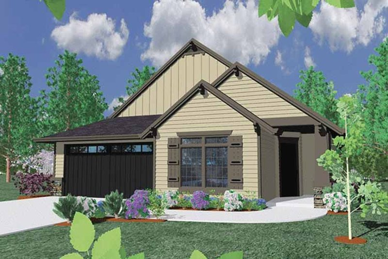 Traditional Exterior - Front Elevation Plan #509-257 - Houseplans.com