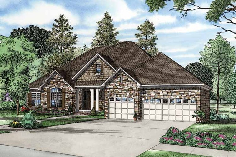 Dream House Plan - Contemporary Exterior - Front Elevation Plan #17-2763