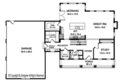 Colonial Style House Plan - 4 Beds 4 Baths 2952 Sq/Ft Plan #1010-204 Floor Plan - Main Floor