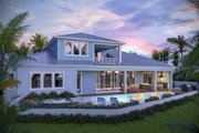 Ranch Style House Plan - 4 Beds 4.5 Baths 3620 Sq/Ft Plan #938-112 Exterior - Rear Elevation